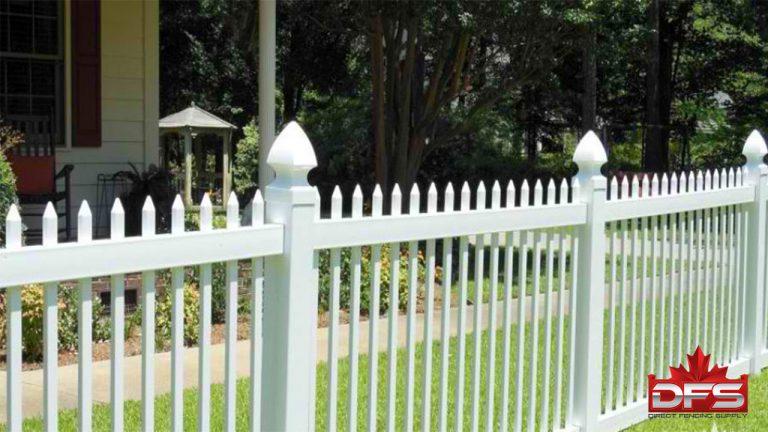picket pvc fence canada