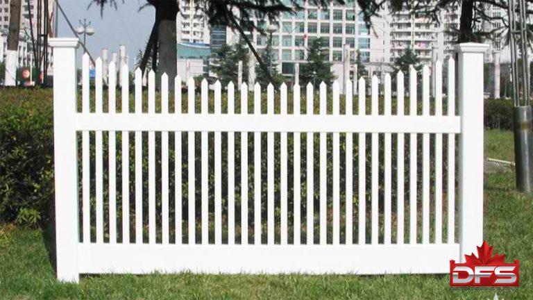 picket vinyl fence canada