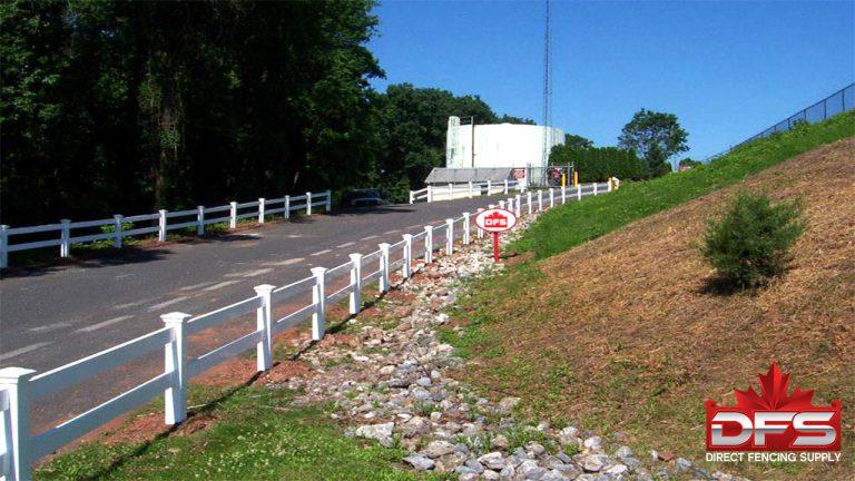 quality ranch rail pvc vinyl fence canada