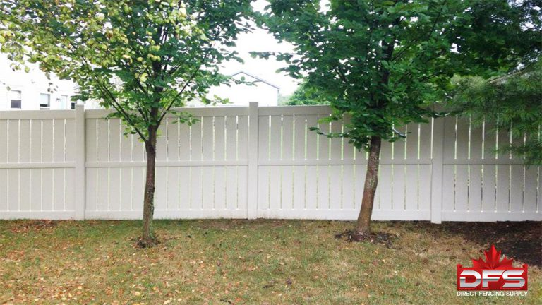 semi-privacy pvc fence