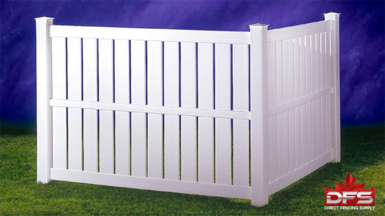 semi-privacy pvc vinyl fence canada