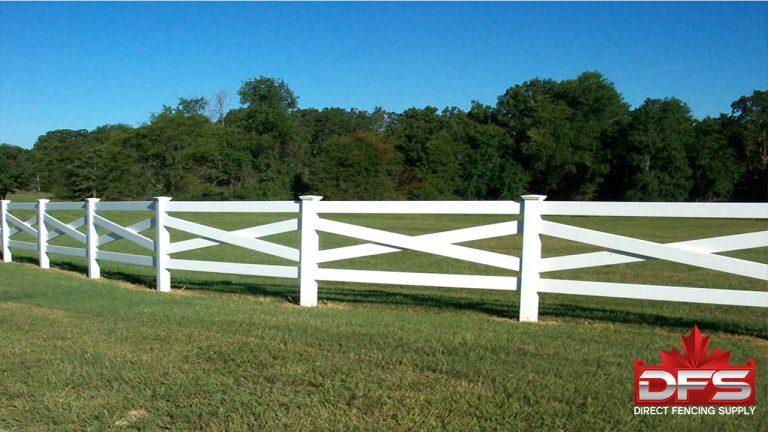 ranch rail pvc vinyl fence canada