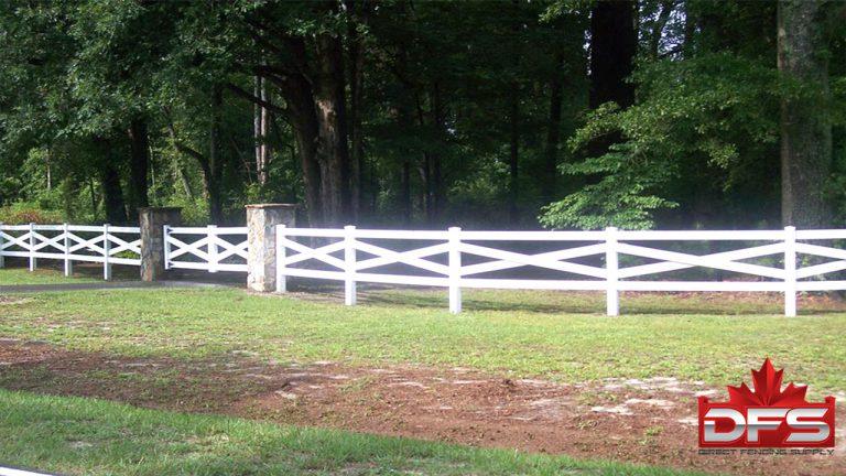 ranch rail vinyl fence canada