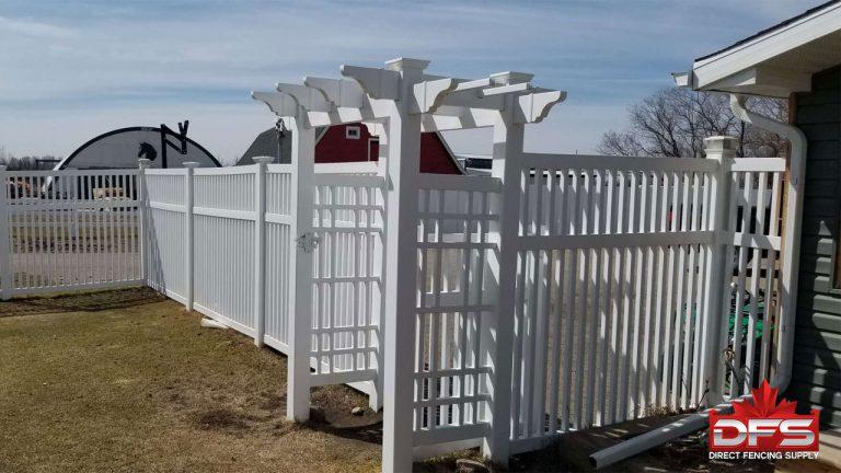 pvc fence arbour