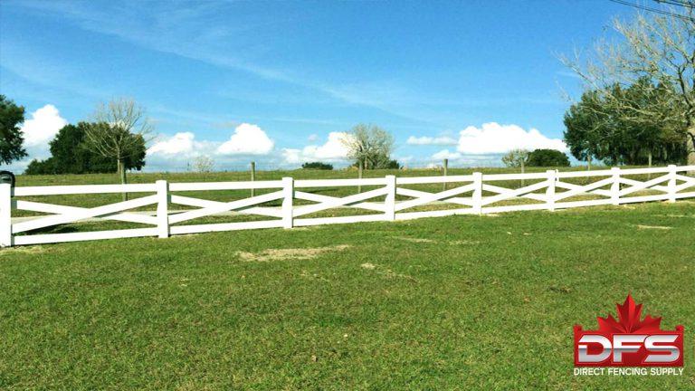 ranch rail pvc fence moose jaw