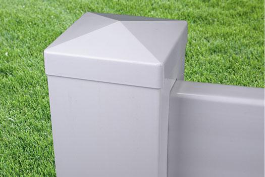 External Flat Post Cap Vinyl Fence security fencing