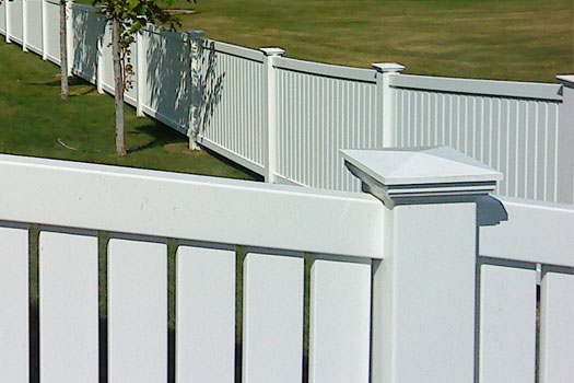 vinyl fence New England Post Cap