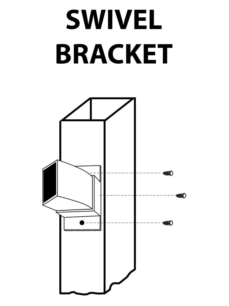 ornamental fence swivel bracket illustration