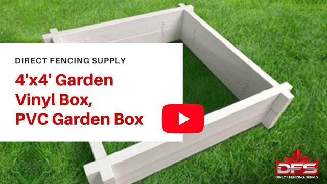 vinyl fence 4x4 Garden Box YouTube Thumbnail