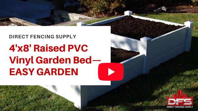vinyl fence 4x8 Garden Box YouTube Thumbnail