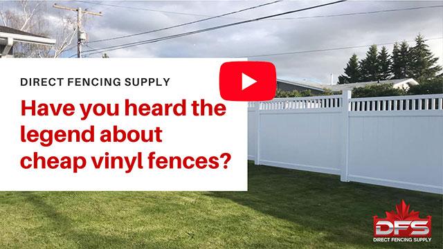 Cheap Vinyl Fence Legend YouTube Thumbnail