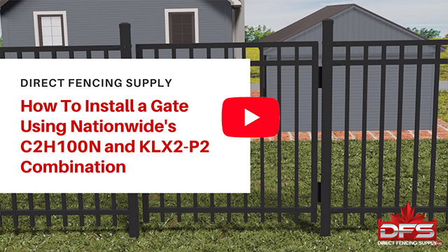 Installing Gate Using fencing suppliers Nationwide Industries Hardware YouTube Thumbnail