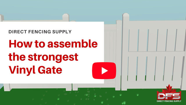 Assembling Strongest PVC Fence Vinyl Gate YouTube thumbnail