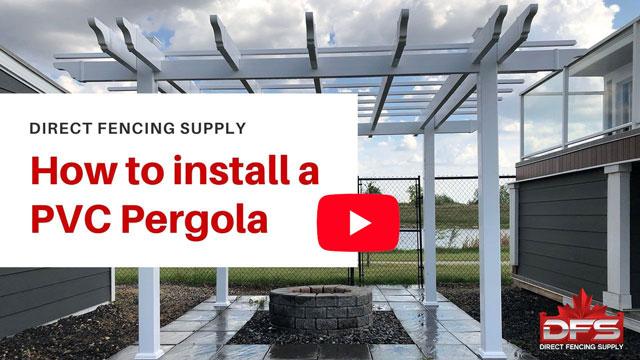 Installing PVC fence Pergola YouTube thumbnail