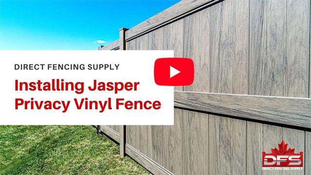 Jasper Privacy Vinyl Fence Installation YouTube Thumbnail