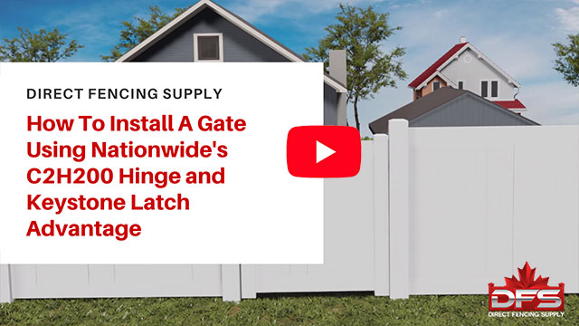 gate installation using Nationwide Industries Hinge and Keystone Latch YouTube thumbnail