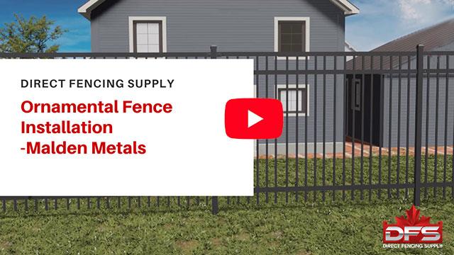 fence installation using Malden Metals YouTube thumbnail