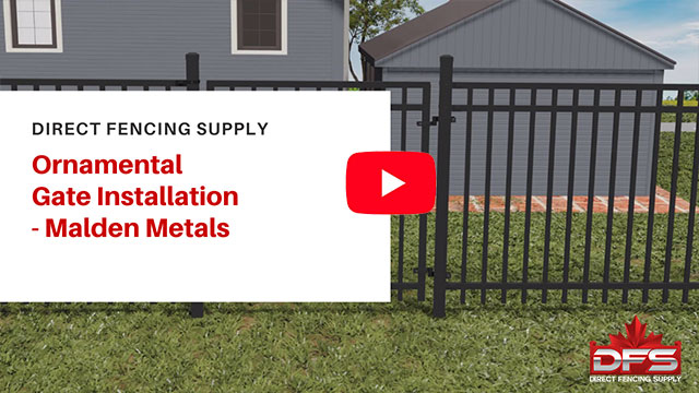 gate installation using Malden Metals YouTube thumbnail