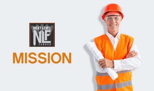 fence company construction worker holding a plan